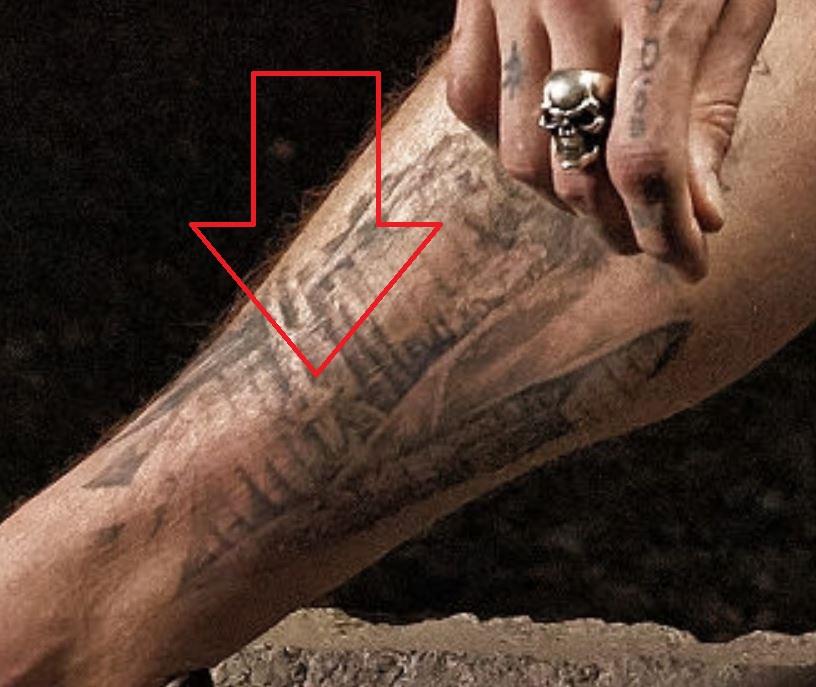 Robert leg tattoo