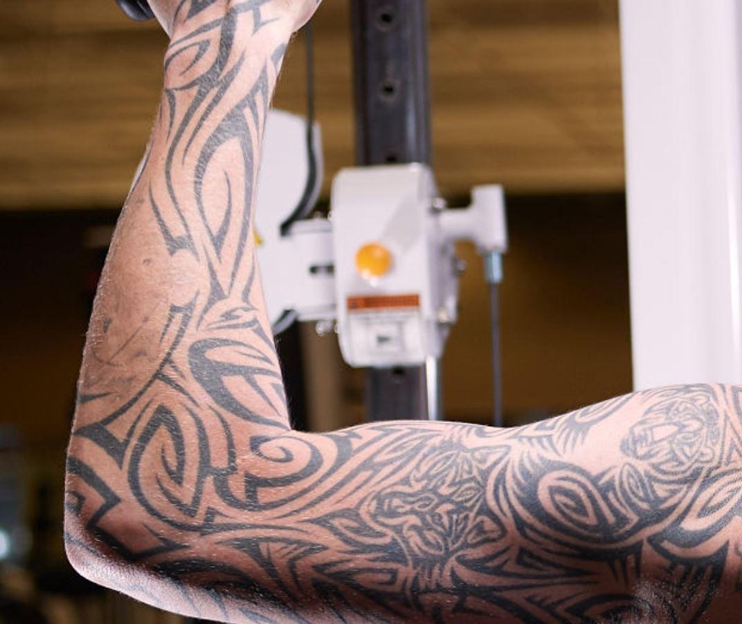 Robert tribal design tattoo