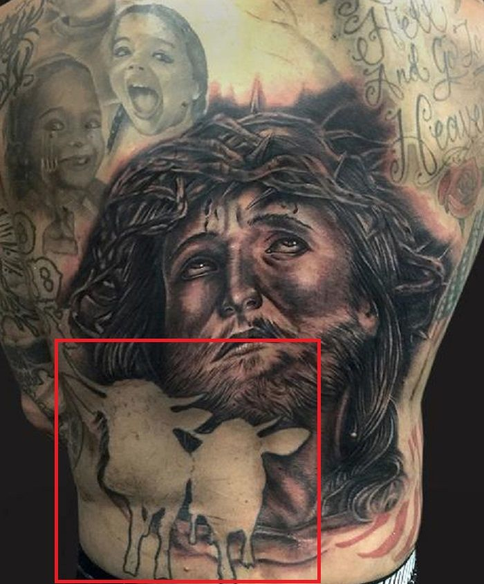 Yelawolf back tattoo