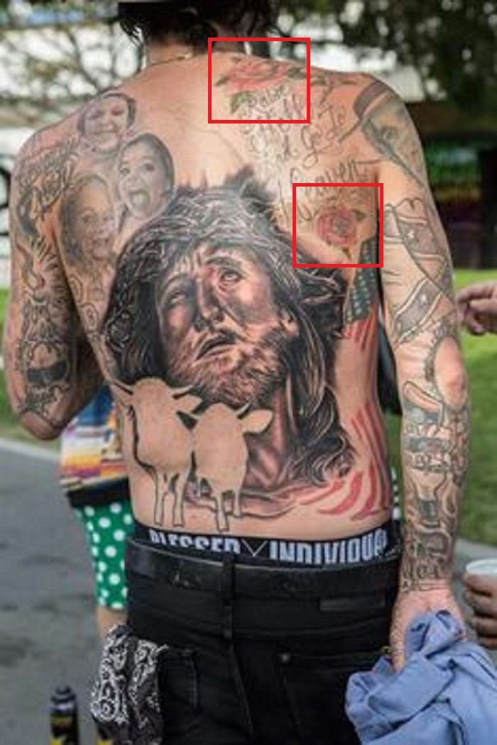 Yelawolf-roses tattoo