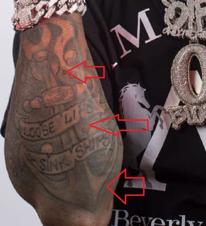 anchor tattoo king von