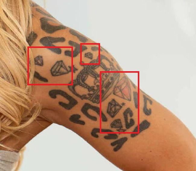 diamonds tattoo-Alison Avery