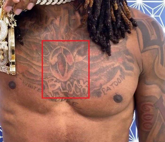 king von chest tattoo