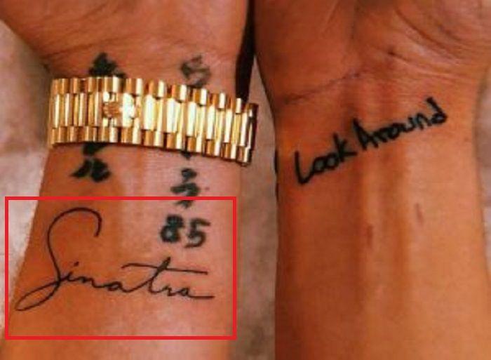 left wrist of logic rapper