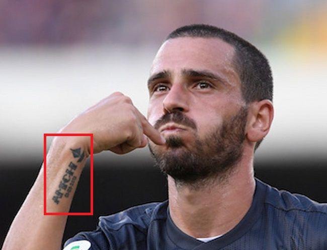 leonardo bonucci-right wrist tattoo
