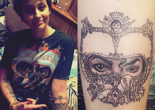 Celebrity eye-tattoo