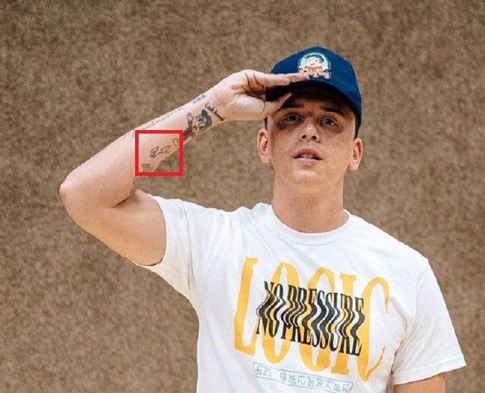 right forearm-logic rapper