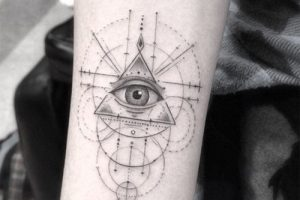 Celebrity eye-tattoo