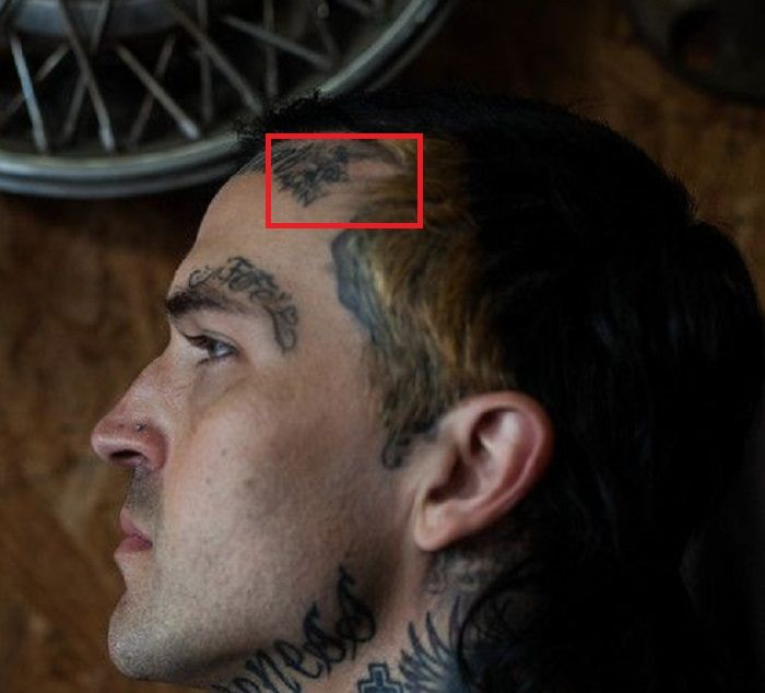yelawolf hairline tattoo