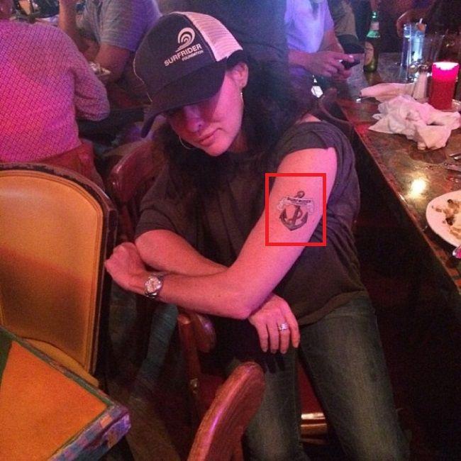Anchor Tattoo-Shannen Doherty-Tattoo