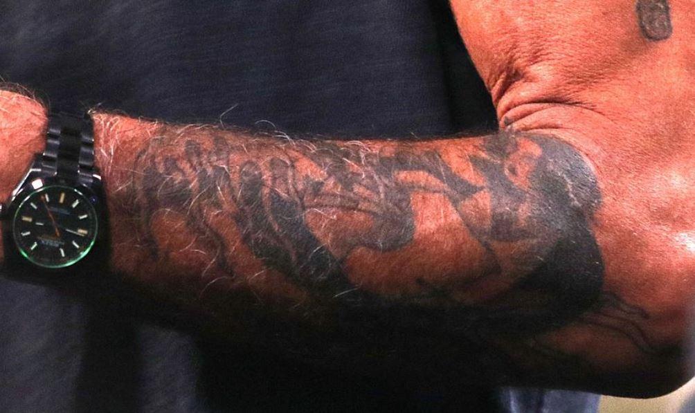 Anthony left arm tattoo