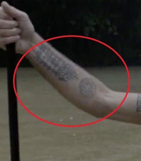 Anthony right forearm tattoos