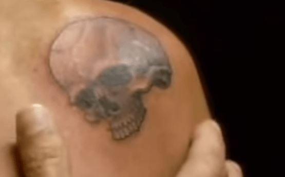 Anthony skull tattoo