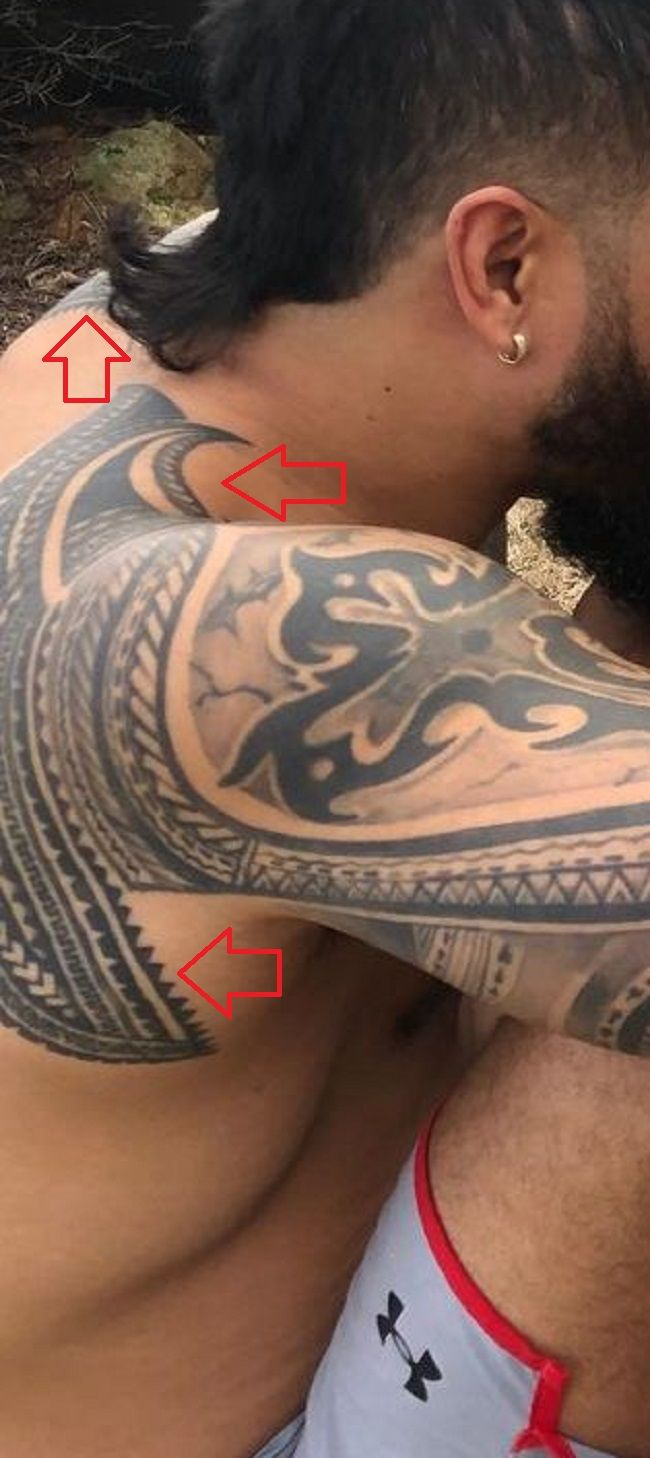 Back tattoos of Jey Uso