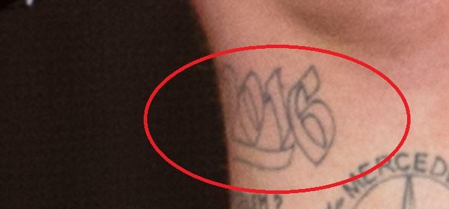Bonez 2016 tattoo