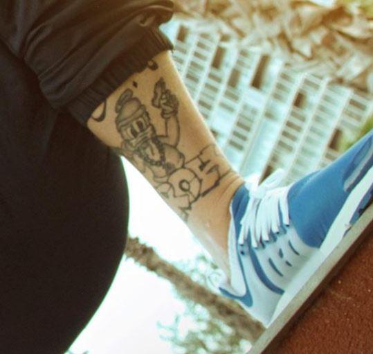 Bonez left leg ink
