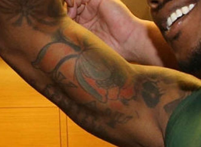 Brandon inner bicep tattoo