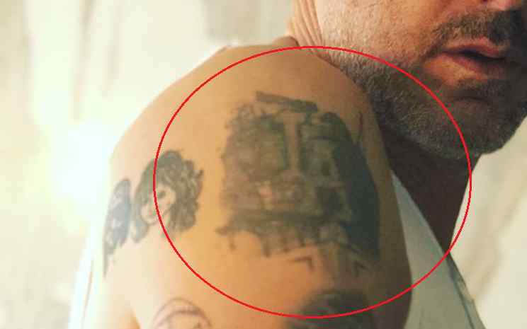 David Arquette LA faces tattoo