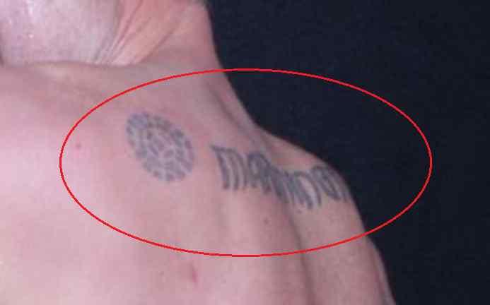 David Arquette back tattoo