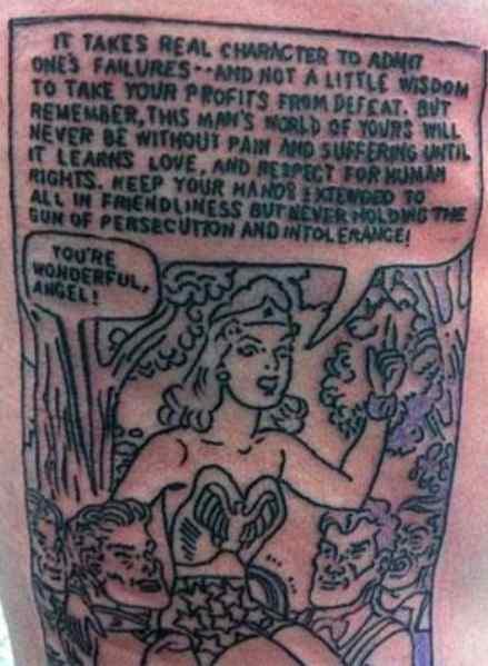 David Arquette comic tattoo