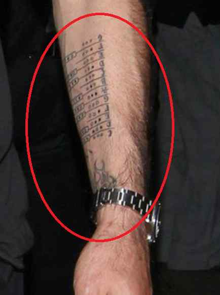 David Arquette design tattoo