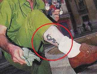 David Arquette dragon tattoo