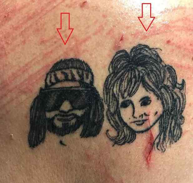 David Arquette faces tattoo