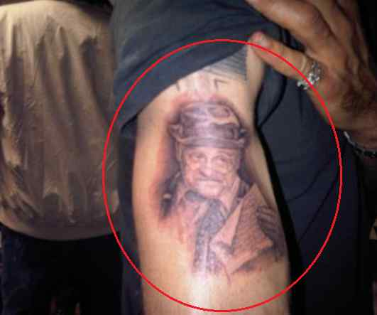 David Arquette portrait tattoo