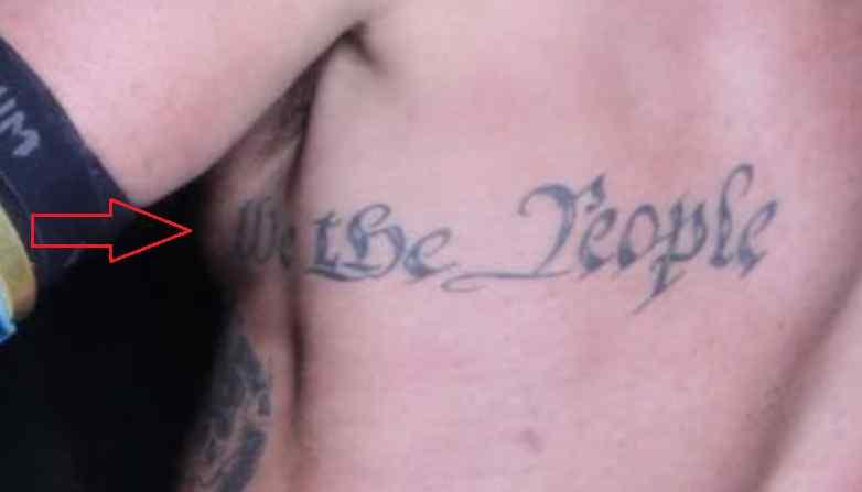 David Arquette words tattoo