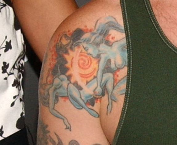 Fred shoulder tattoo