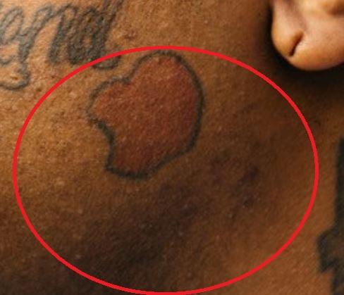 Greedo cheek tattoo
