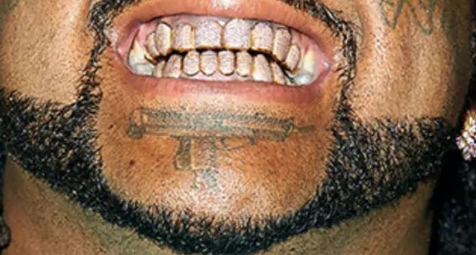 Greedo chin tattoo