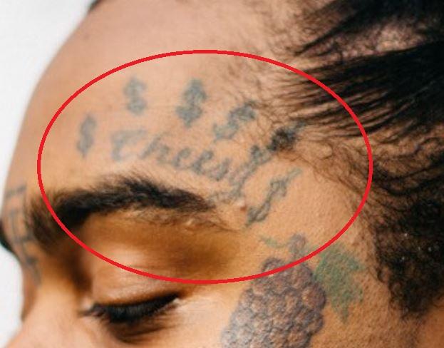 Greedo eyebrow tattoo