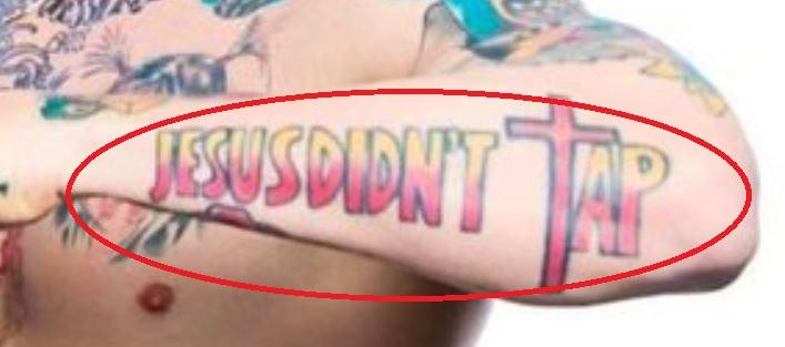 Jason JESUS DIDNT TAP Tattoo