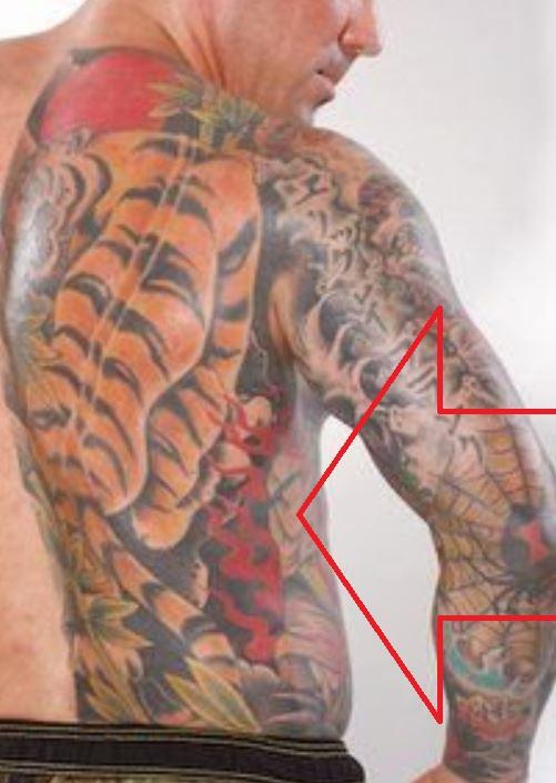 Jason abdomen tattoo
