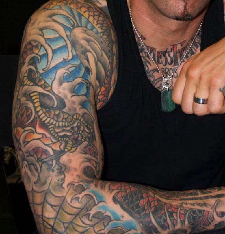 Jason right arm tattoo
