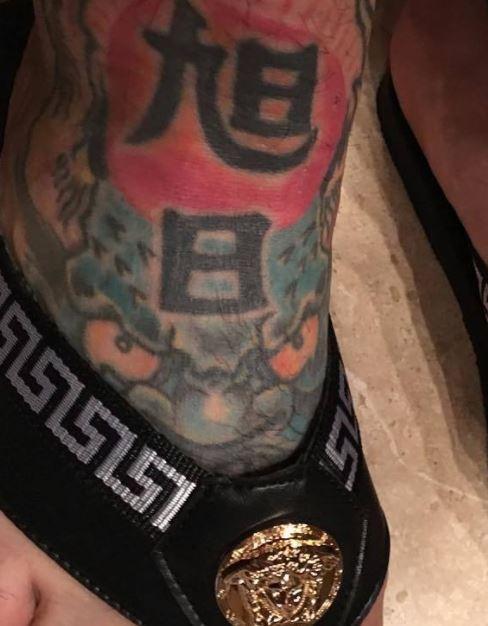 Jason right foot tattoo