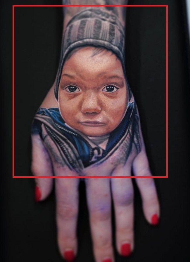 Jennifer Lynn Farley-JWoww-Portrait of Son-Tattoo