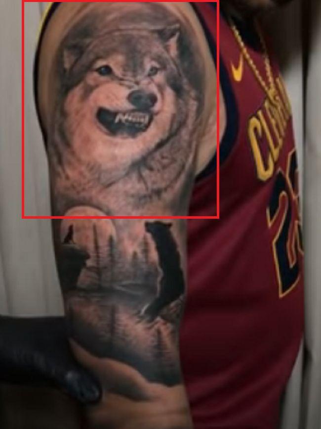 Karan Aujla-Wolf-Tattoo