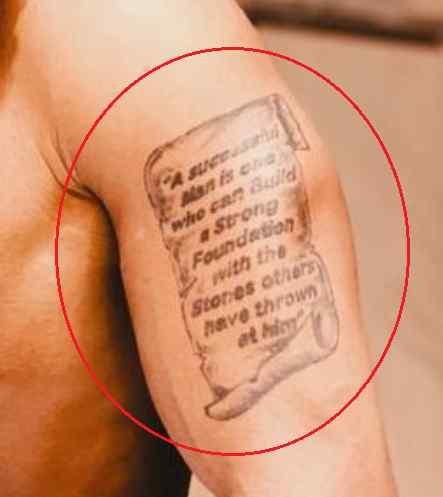 Rotimi scroll tattoo