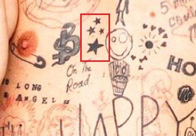 Stars tattoo of mod sun