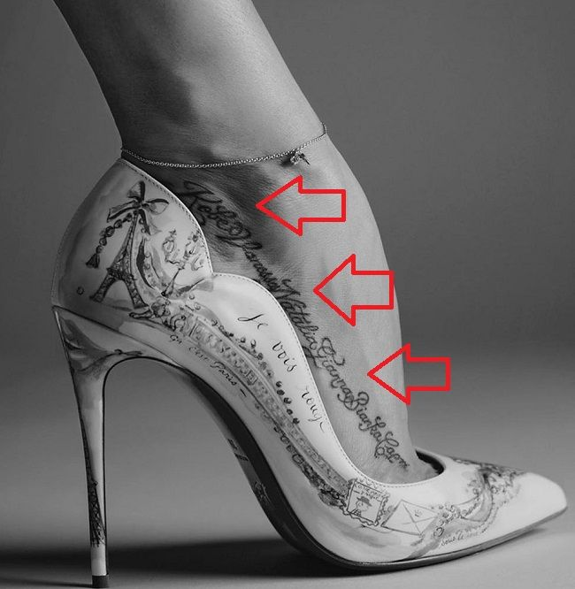 Vanessa Bryant-Family members name tattoo