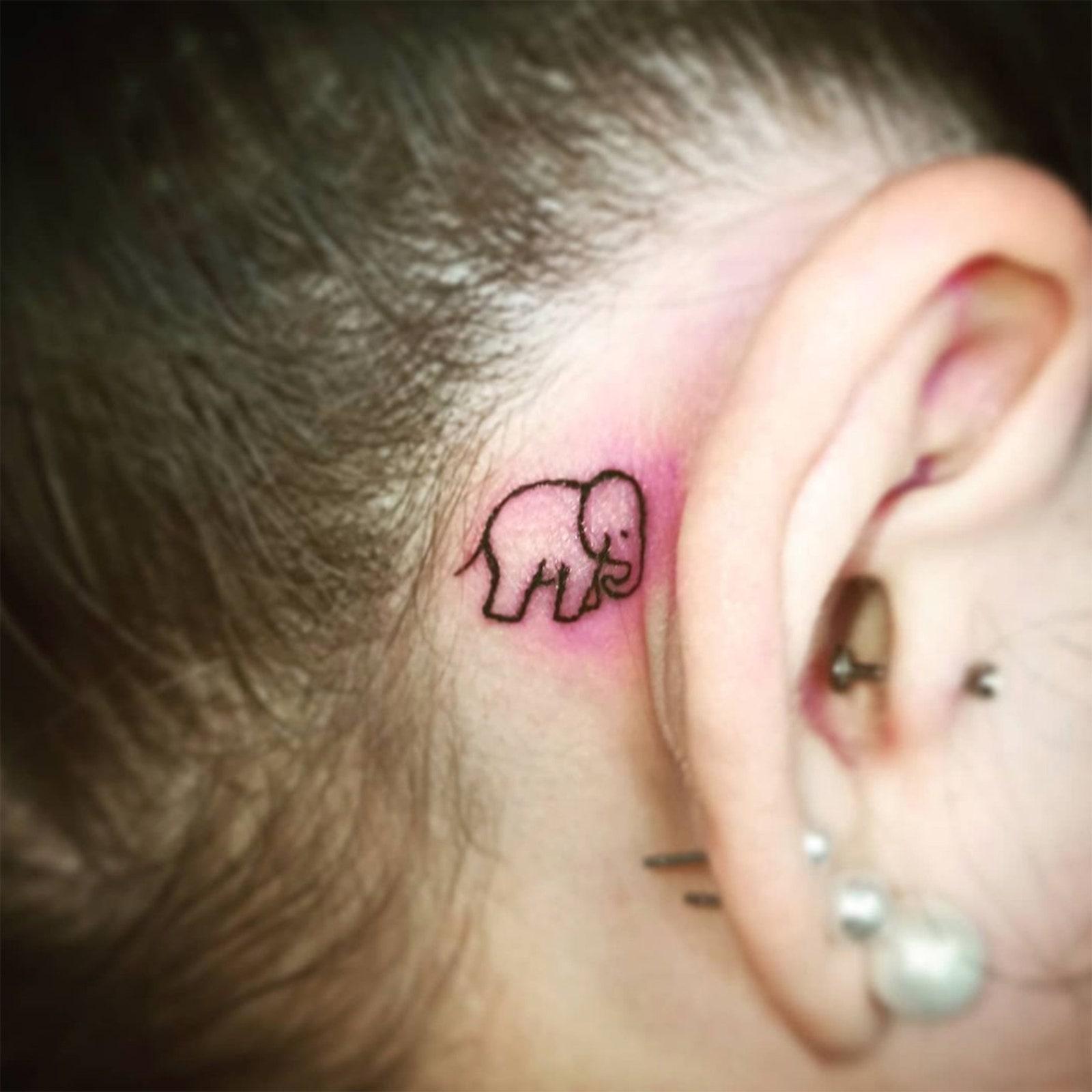ear tattoo