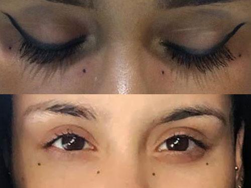 kehlani-eyes-dots-tattoo