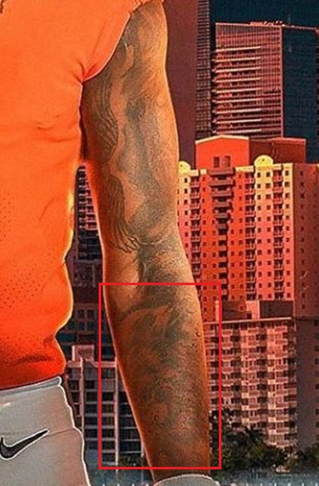 left forearm of bryce perkins