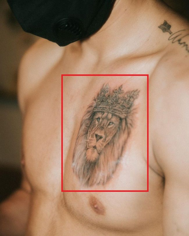 lion with crown-ryan garcia-tattoo