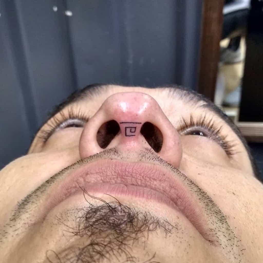 nose tattoo