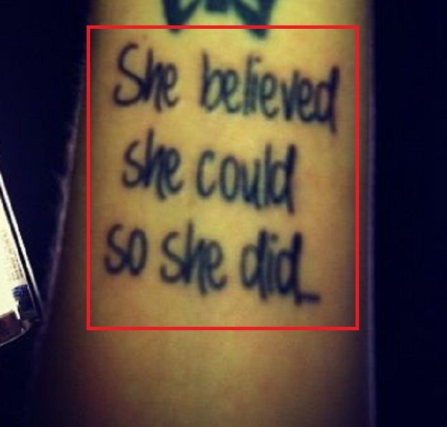 she believed she could so she did-tattoo-carly pearce