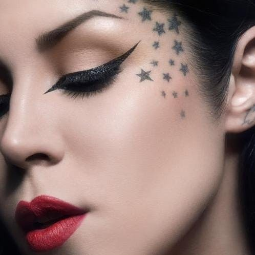 under eye tattoos