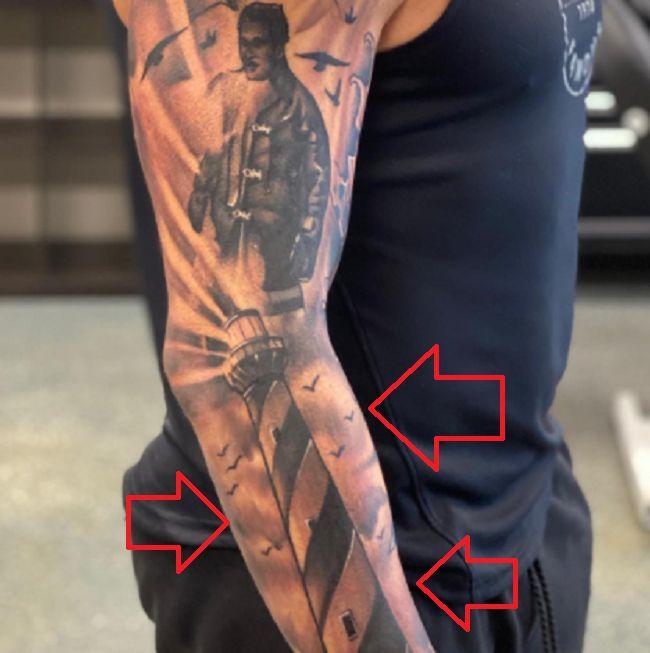 Bobby Fish-Lighthouse tattoo